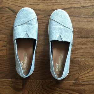 a04000d45b0a Toms Shoes - Toms Drizzle Grey Metallic Woven Avalon Slip-On